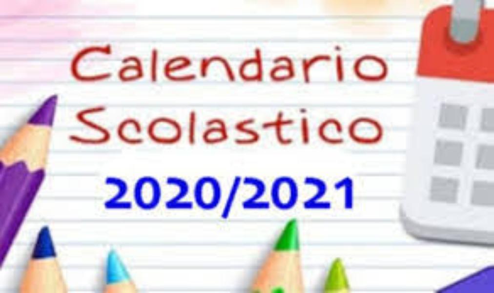 APPROVAZIONE CALENDARIO SCOLASTICO 2020/2021. D...