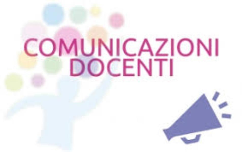COMUNICAZIONI  DOCENTI