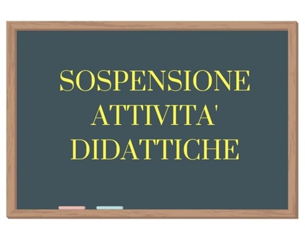 SOSPENSIONE DELLE ATTIVITA' DIDATTICHE DAL 16 A...