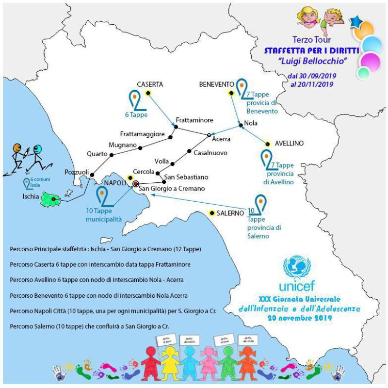 UNICEF STAFFETTA  DEI DIRITTI
